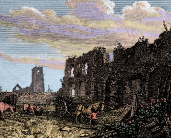 18th century engraving of Greyfriars,
