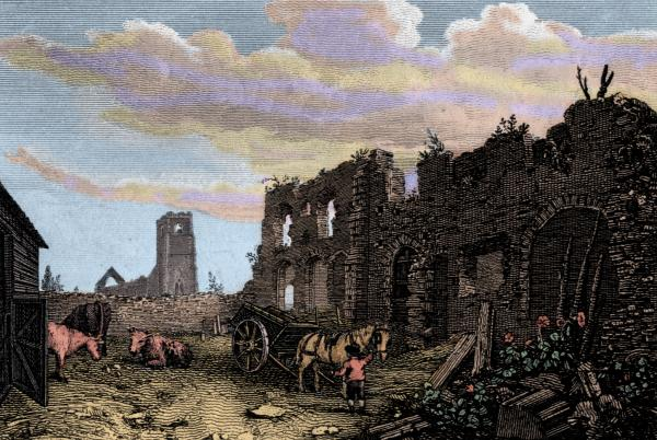 18th cent engraving of Greyfriars